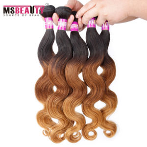Wholesale Ombre Brazilian Body Wave Hair Weave pictures & photos