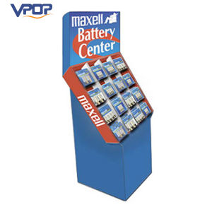Battery Retail Sale Cardboard Dump Bin Display with Compartment