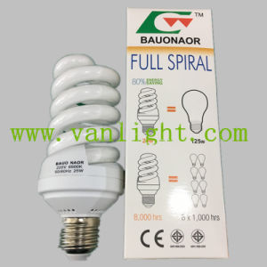 High Power Efficiency T3 Full Spiral CFL 25W Energey Save Lamp pictures & photos
