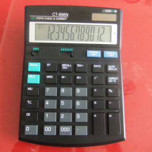 Big Display Check & Correct Calculator, 12 Digits Calculator (CT-666N)