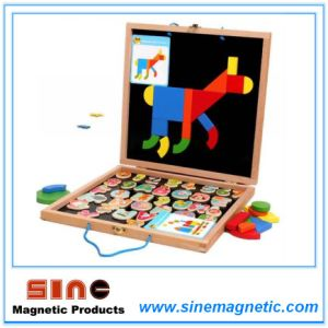 Log Magntic Puzzle Double Drawing Board Woodern Toys pictures & photos