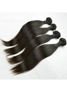 Beautiful Peruvian Virgin Hair Weft Silk Straight 100% Human Hair Extensions in Stock for Black Women pictures & photos