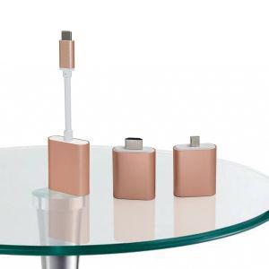USB Type-C to Dismountable 3 Parts Adapter Aluminum Alloy with Mini Dp 4k@30Hz, HDMI 4k@30Hz and VGA 2k@30Hz pictures & photos