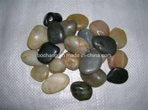 Landscaping River Stone Pebbles with White Black Beige pictures & photos