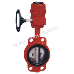 Electrical Fire Fighting Signal Wafer Butterfly Valve pictures & photos
