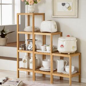 Bamboo Kitchen Storage Rack Shelf pictures & photos