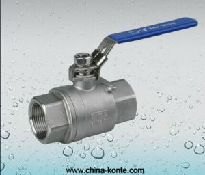 Stainless Steel Threaded 2PC Ball Valve (Lock Device) pictures & photos