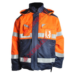 Winter Protective Safety Fire Protection Jacket with Reflective Tape