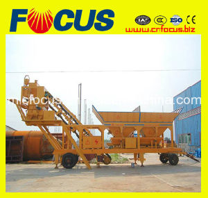 25m3/H-100m3/H Portable Concrete Batching Plant with Wheels pictures & photos