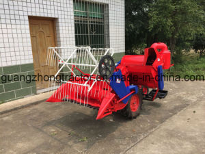Self-Propelled Full Feeding Type 4lz-0.7 Mini Combine Harvester (rubber track or Tyre Wheel) Harvesting Rice, Wheat, Barley/Agriculture Machine/Farm Machinery/H pictures & photos