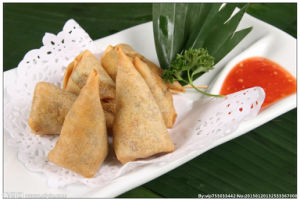 Triangle Frozen Vegetable 12.5g/Piece X 102pieces Samosas with HACCP Certification pictures & photos