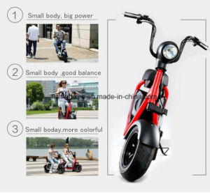 1000W Electric Touring Motorcycle with 60V/20ah Lithium Battery pictures & photos