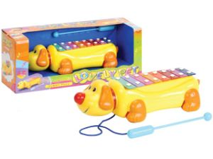 En71 Pull -Line Xylophone Dog Shape pictures & photos