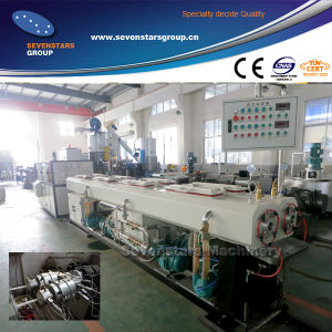 New Design Small Diameter Plastic PVC Wire Conduit Pipe Making Machine Double Pipe Extrusion Line pictures & photos