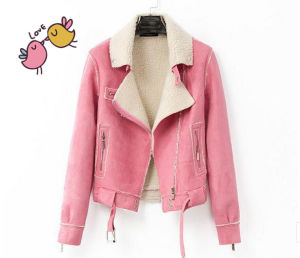 Women Fashion Leather PU Jacket Clothes pictures & photos