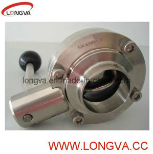 Stainless SMS Welding End Butterfly Valve pictures & photos