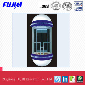 Circular Type Sightseeing Elevator with Small Machine Room pictures & photos