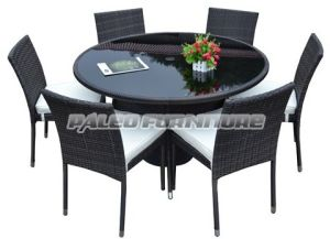 Outdoor Rattan Round Table Dining Set (PAD-079)