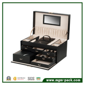 Promotional High Quality Large Leather Jewelry Box pictures & photos