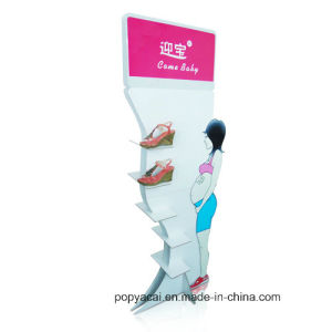 Cardboard Floor Display Standee Free Standing Display Rack for Shoes pictures & photos
