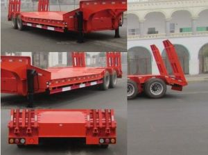 Tri-Axle 60-80 Ton Heavy Equipment Transportion Lowbed Semi Trailer