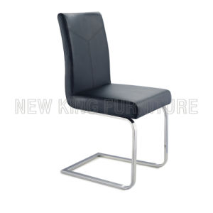 Comfortable Chrome Steel Foot PU Leather Dining Chair (NK-DC034)