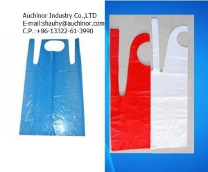 PE Embossed Plastic Apron pictures & photos