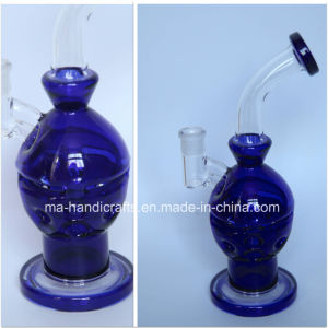 """12"""" Blue Faberge Egg Glass Smoking Bubbler Glass Water Pipes Tobacco Pipe pictures & photos"""