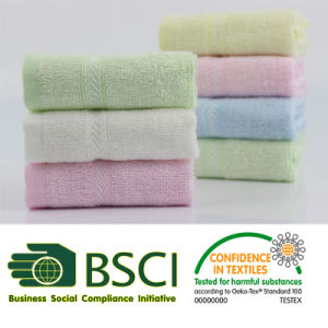 Luxury 70% Bamboo 30% Cotton Baby Towel pictures & photos
