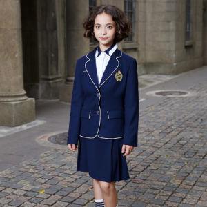 Custom Navy Blue School Uniform Blazer pictures & photos