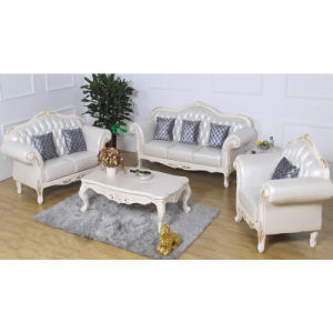 Classic Leather Sofa for Living Room Furniture (987A)