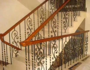 Prefabricated Exquisite Iron Staircase Handrails pictures & photos