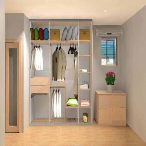 Multi-Function Hollow out Wardrobe Cabinet pictures & photos