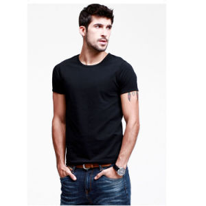 Fashion Round-Neck Combed Cotton Slim Fit T-Shirt pictures & photos
