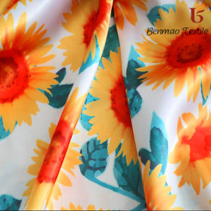 Upscale 100%Polyester Digitai Printing Satin Fabric for Garment