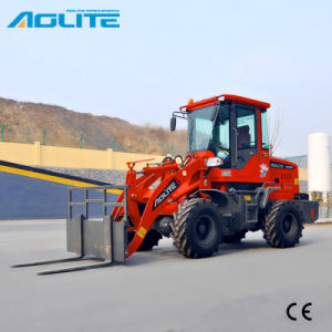 Color Red Articulated Front End Loader with Pallet Fork pictures & photos