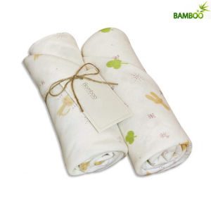 Skin-Friendly 100% Natural Bamboo Fiber Baby Blanket pictures & photos