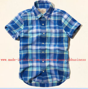 Men′s Cotton Casual Yarn Dyed Check Shirt (SM14006) pictures & photos