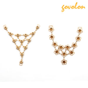 Latest Golden Alloy Metal Chain Ornament for Sandal pictures & photos
