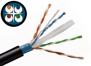 UL/CE/ RoHS/ISO Approved UTP Outdoor CAT6 Cable pictures & photos