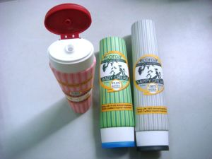 Cosmetic Packaging, Oval Tube with Dual-Color Flip-Top Cap pictures & photos
