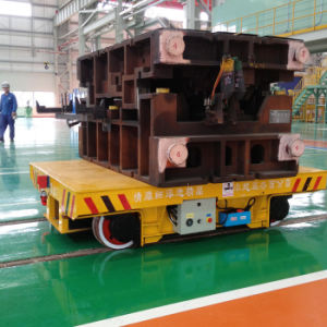 Heavy Load Motorized Transfer Trolley Used to Transfer Heavy Equipment pictures & photos