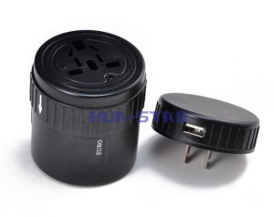 Multifunction Travel Plug and Socket Adapter with USB Charger (HS-T097U) pictures & photos