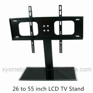 Tempered Glass Base Television Bracket Mount Rack TV Stand pictures & photos