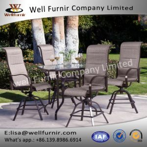 Well Furnir T-084 Square Coral Bar Height Patio Dining Set pictures & photos