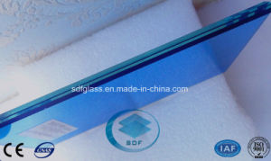 Dark Blue PVB Laminated Glass with CE, ISO pictures & photos