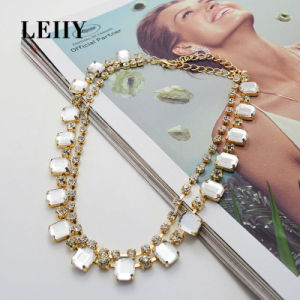 2 Colors Crystal Rhinestone Double Layer Choker Necklace pictures & photos
