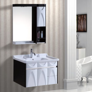 Black Color Hanging Bathroom Cabinet Furniture pictures & photos