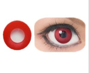 Pure Red Crazy Cosplay Color Contact Lens