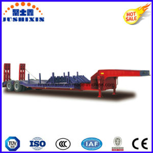 Manufacturer Jushixin 2 Axle 50tons Extendable Low Bed Semi Trailer pictures & photos